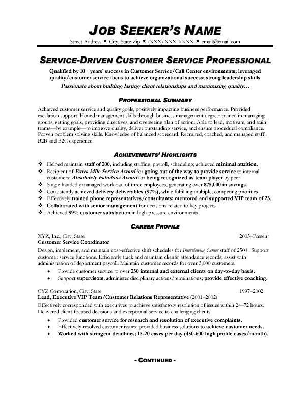 customer service resume skills summary examples professional for standard font size best Resume Customer Service Professional Summary For Resume