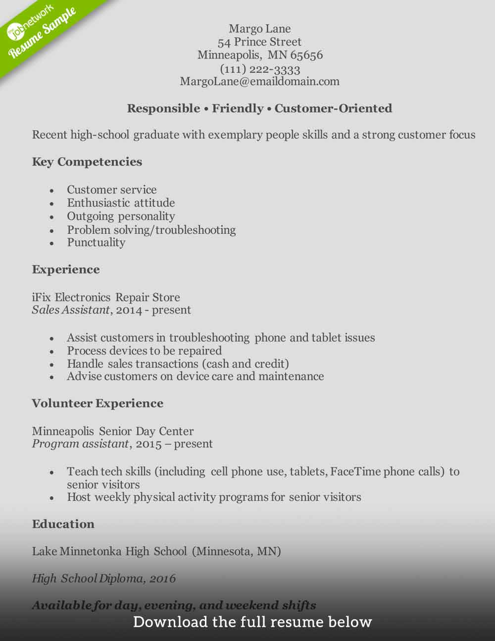 customer service resume to write the perfect one examples for position entry level1 email Resume Resume For Customer Service Position
