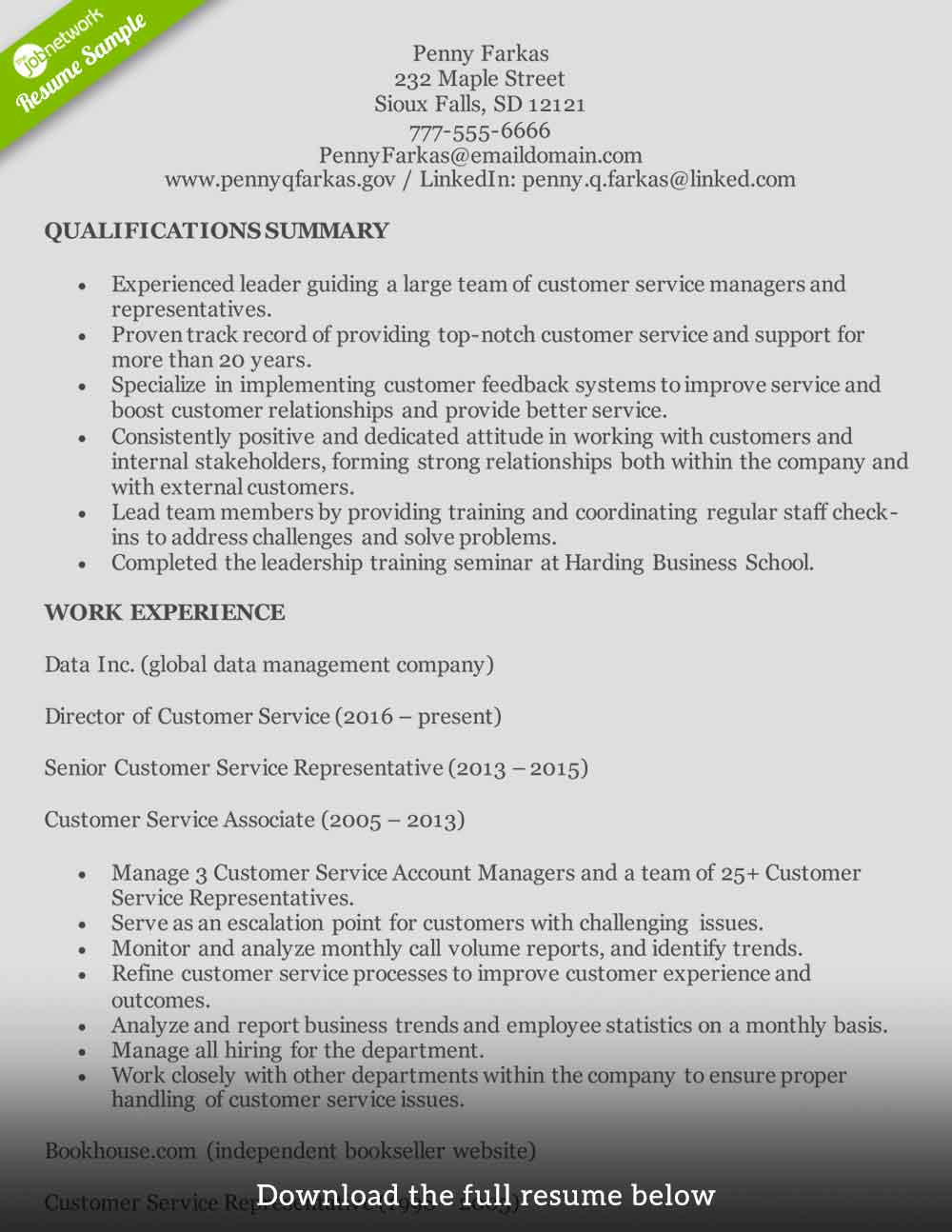 customer service resume to write the perfect one examples professional summary for Resume Customer Service Professional Summary For Resume