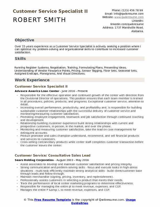 customer service specialist resume samples qwikresume pdf peace corps updated model with Resume Customer Service Specialist Resume