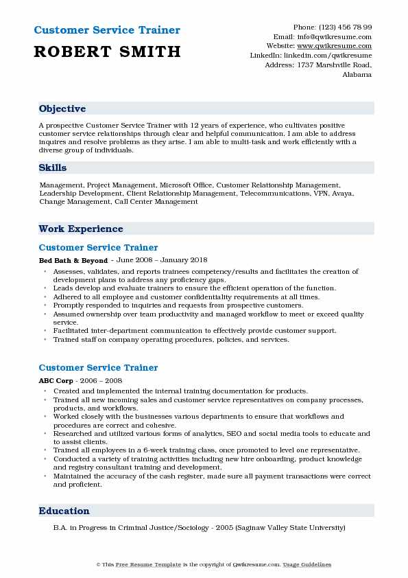 customer service trainer resume samples qwikresume objective for pdf skills and Resume Resume Objective For Trainer