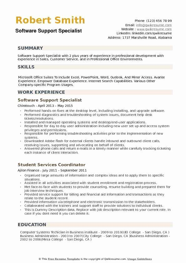 customer support specialist resume awesome software samples examples security it supports Resume It Supports Specialist Resume
