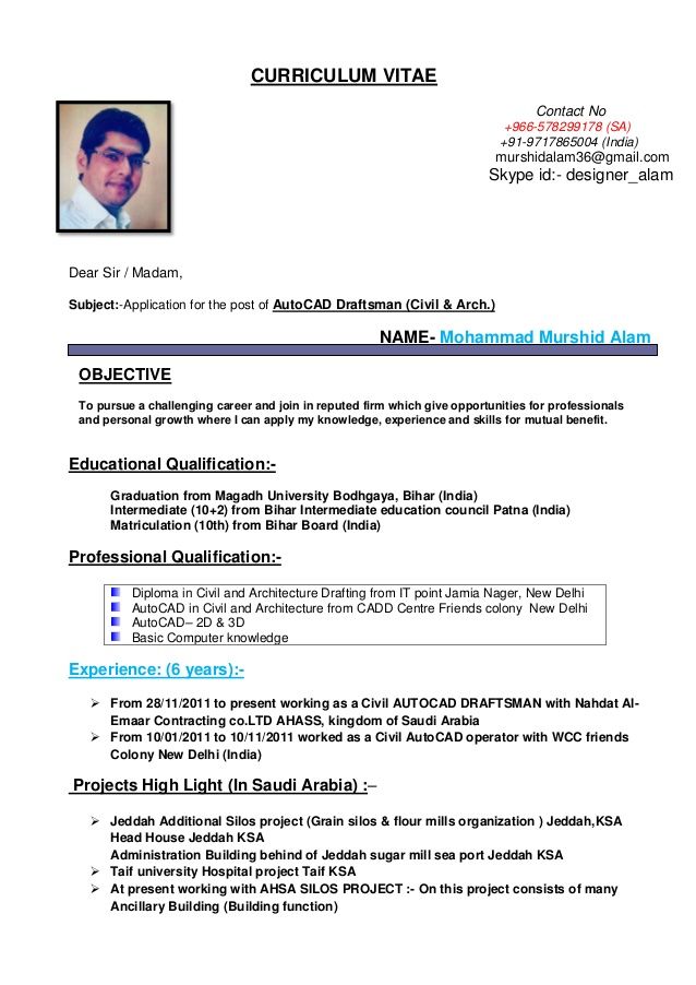 cv for autocad draftsman civil arch resume model objective retail manager cashier word Resume Civil Draftsman Resume Model