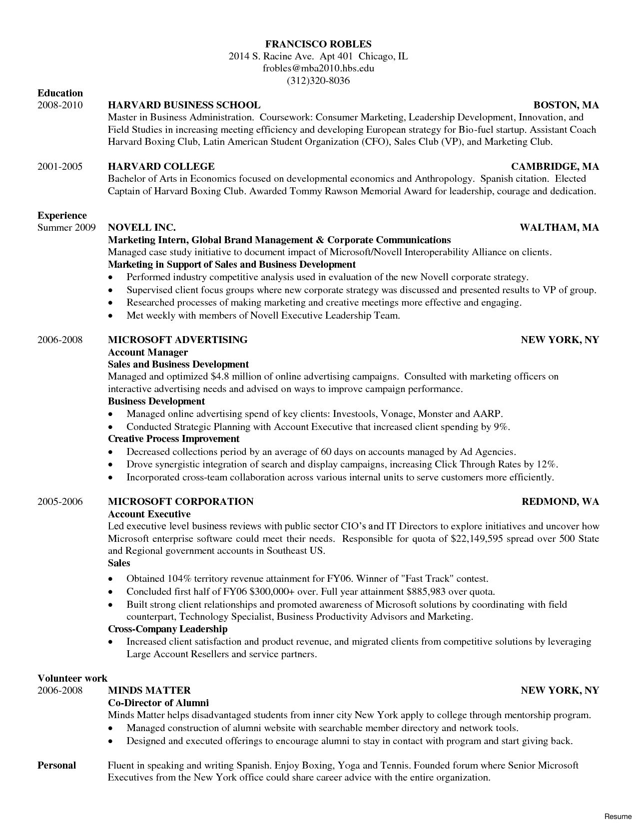cv template harvard resume format business school examples copywriter tongue and quill Resume Harvard Resume Template