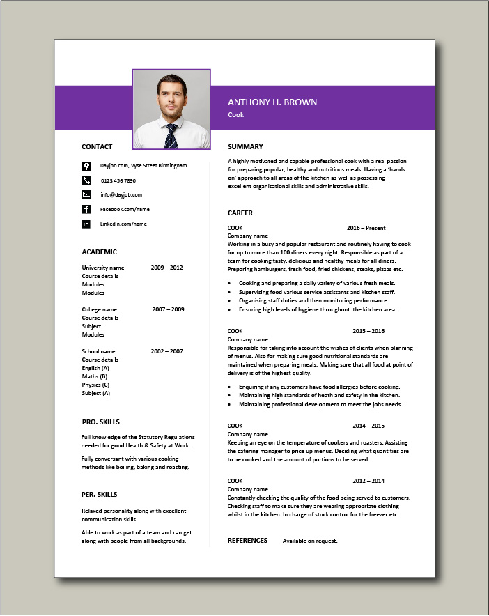 cv template job description chef jobs example resume cooking cvs for free production Resume Resume For Chef Cook