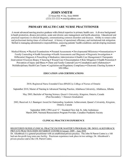cv template nurse practitioner medical assistant resume nursing examples primary care Resume Primary Care Nurse Practitioner Resume