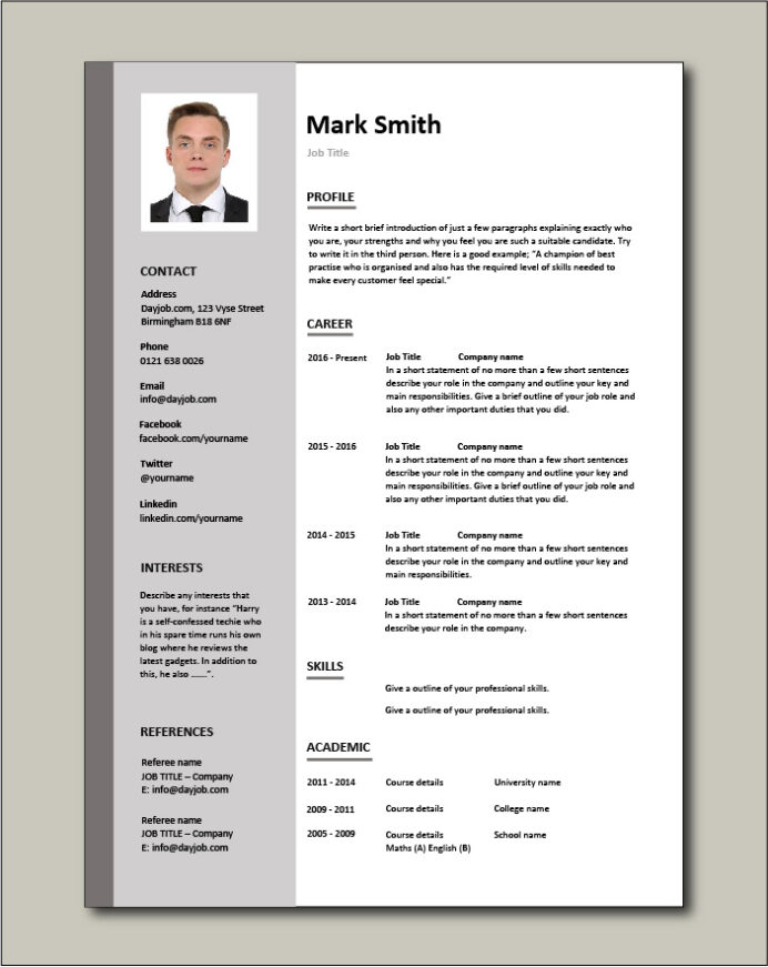 cv templates impress employers resume template format free emplate pic create from Resume Resume Template Format Download