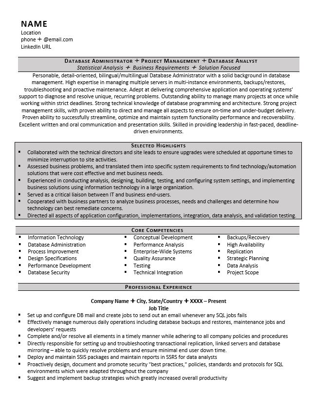 database administrator resume example tips oracle weebly entry level environmental Resume Oracle Database Administrator Resume