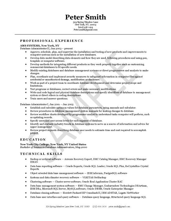 database administrator resume examples project manager cover letter for oracle lead mri Resume Oracle Database Administrator Resume