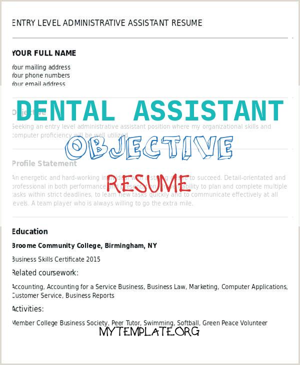 dental assistant objective resume free templates good for of entry level pin with only Resume Good Objective For Resume For Dental Assistant