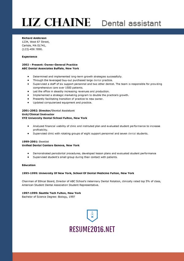dental assistant resume template get the job email note when sending high school profile Resume Dental Assistant Resume Template