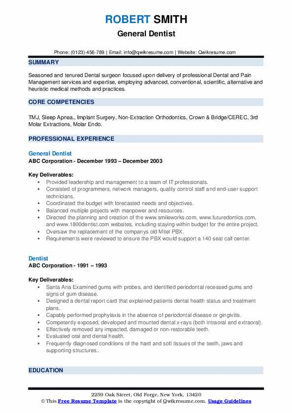 dentist resume samples qwikresume free dental templates pdf home health nurse cleaning Resume Free Dental Resume Templates