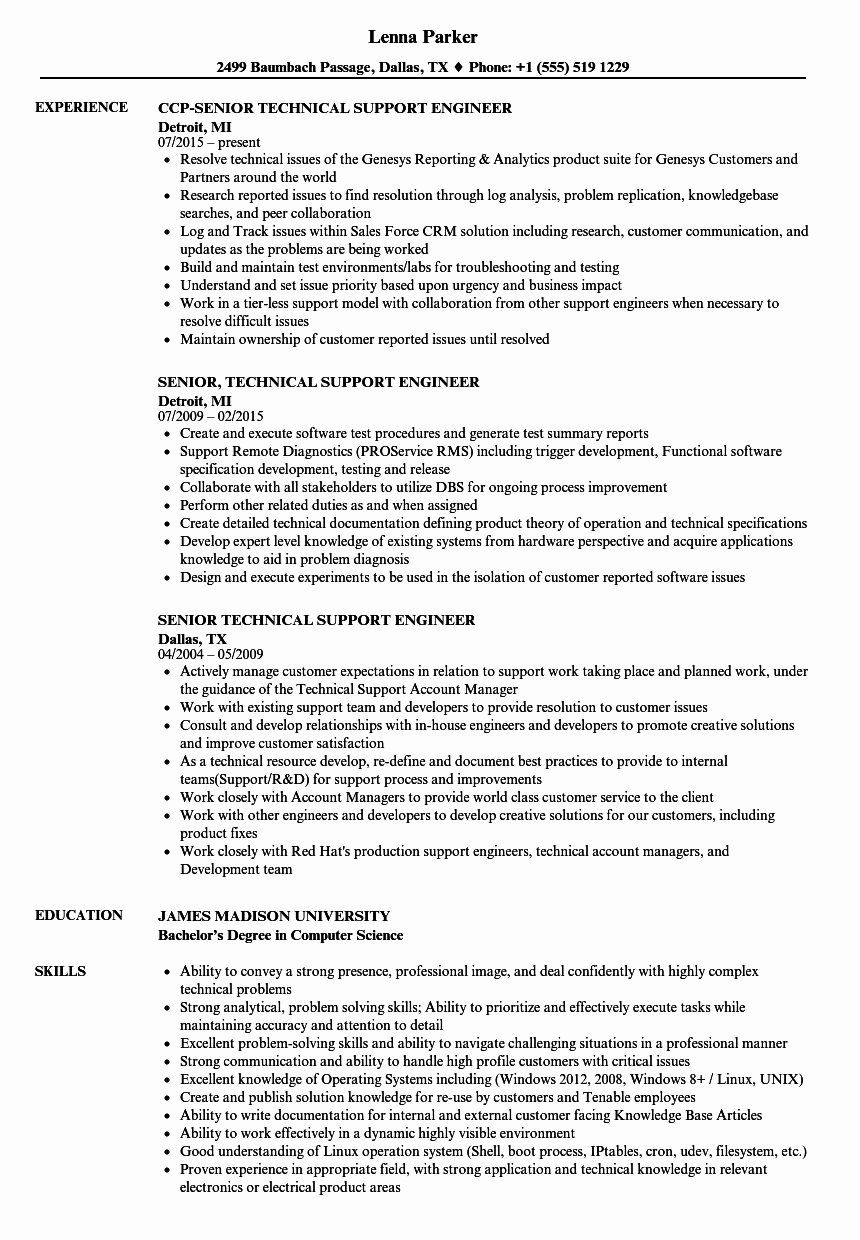 desktop support technician resume best of format for engineer l2 examples job it supports Resume It Supports Technician Resume