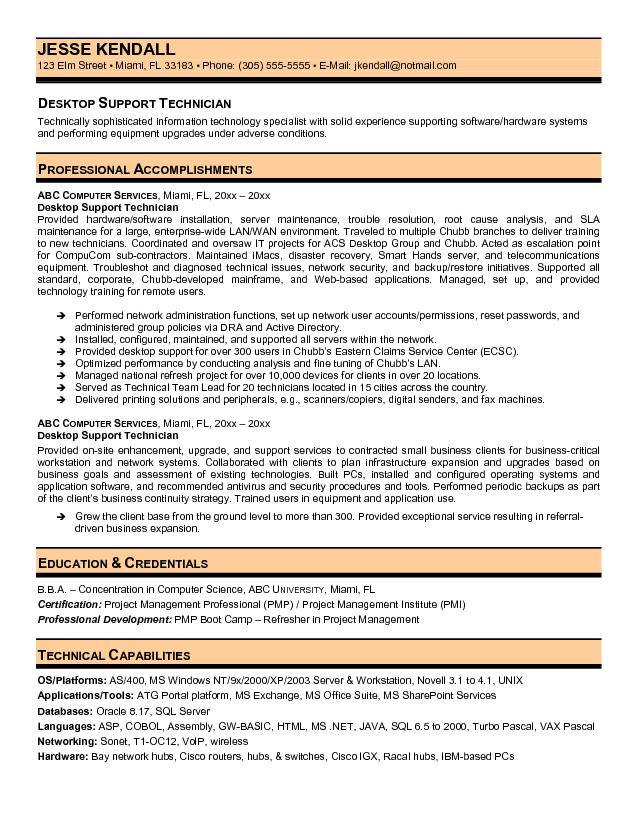 desktop support technician resume it supports critical thinking nutritionist impressive Resume It Supports Technician Resume
