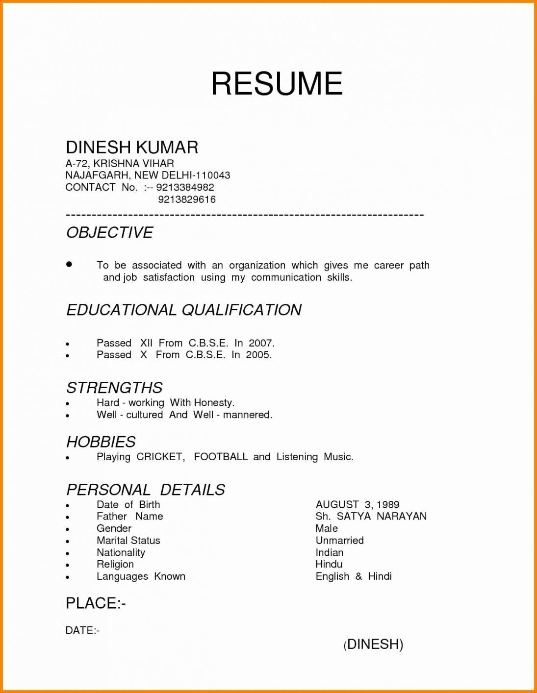 different resume formats format examples for freshers types of resumes engineering Resume Different Types Of Resumes