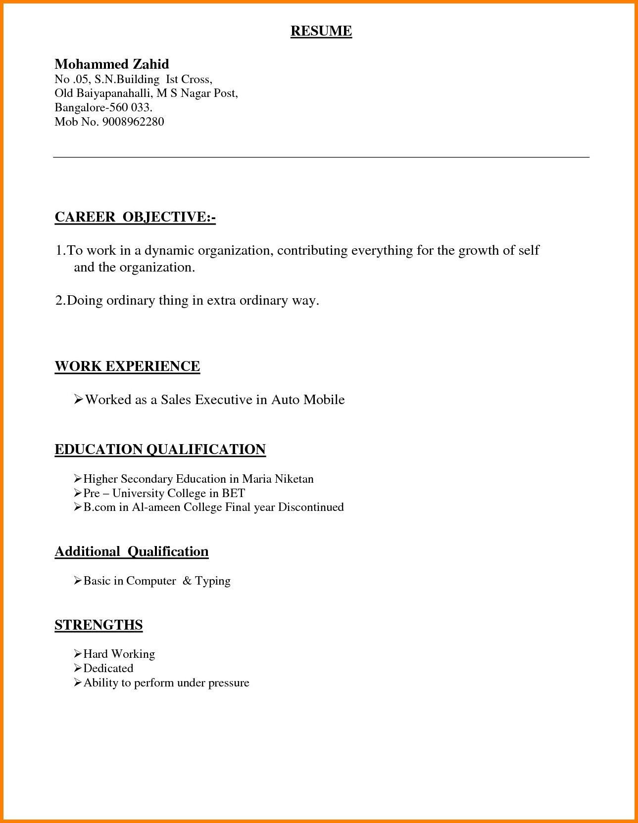 different types of resume format in word resumes linkedin icon for customer service Resume Different Types Of Resumes