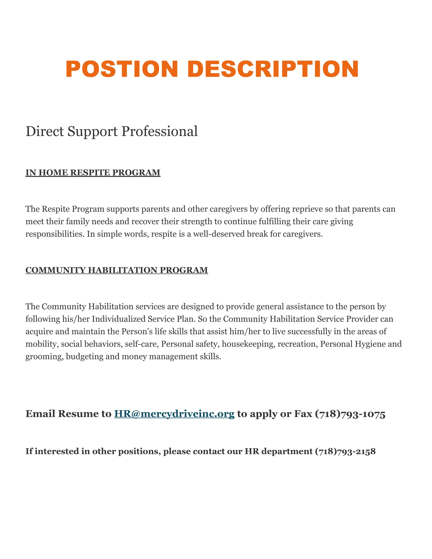 direct support professional jobs connected resume job fair flyer phone number on Resume Direct Support Professional Resume