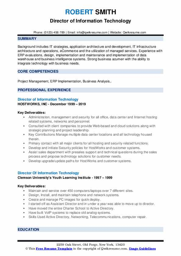 director of information technology resume samples qwikresume summary pdf collections Resume Information Technology Summary Resume