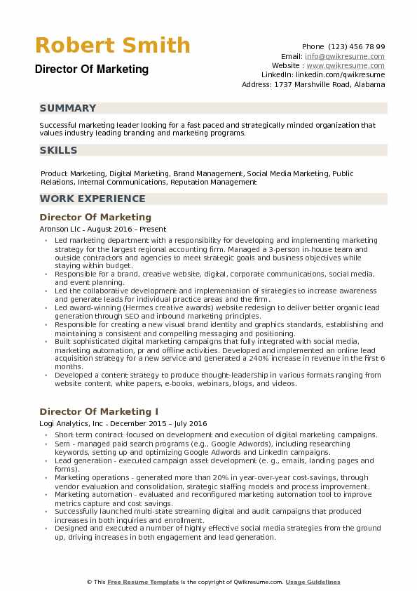 director of marketing resume samples qwikresume pdf objective for oil and gas dog sitter Resume Marketing Resume Samples