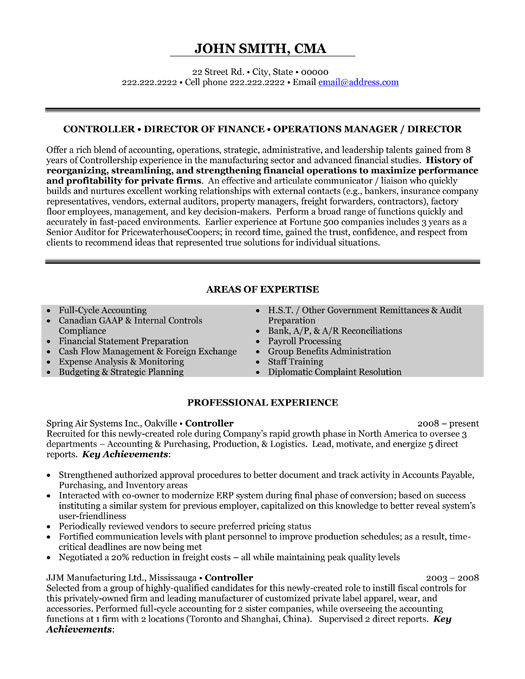 director of operations resume sample template executive finance controller for angular Resume Director Of Operations Resume