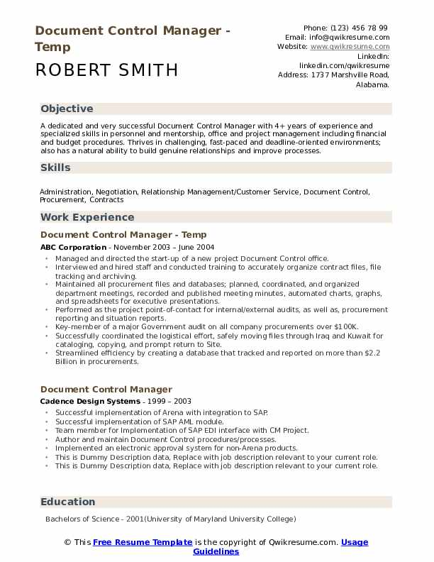 document control manager resume samples qwikresume records management sample pdf and Resume Records Management Resume Sample