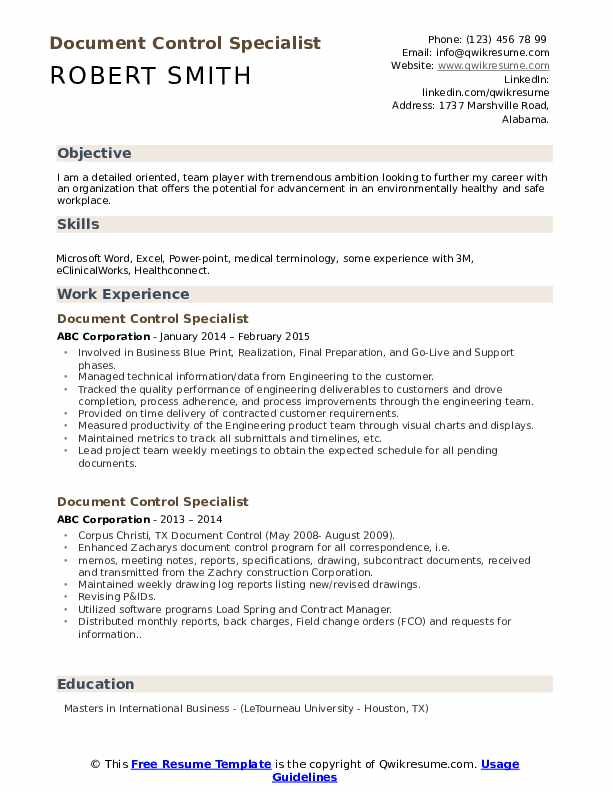 document control specialist resume samples qwikresume records management sample pdf good Resume Records Management Resume Sample