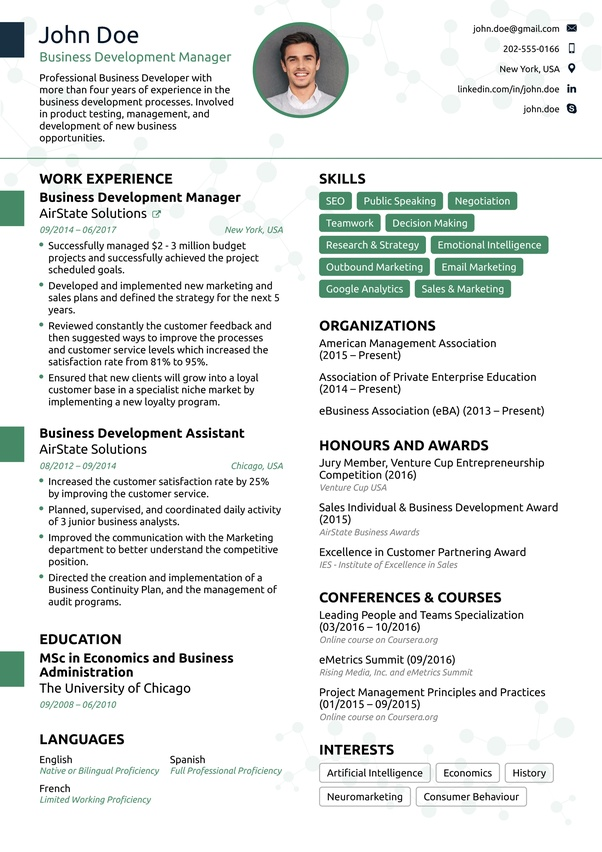 does an ideal one resume look like quora examples for sewing machine operator font Resume One Page Resume Examples