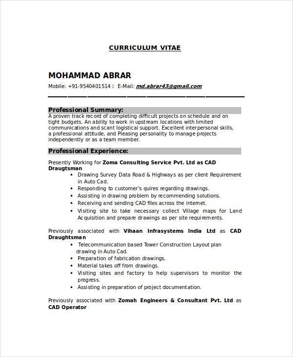 draftsman resume templates free word pdf document downloads civil model for first time Resume Civil Draftsman Resume Model