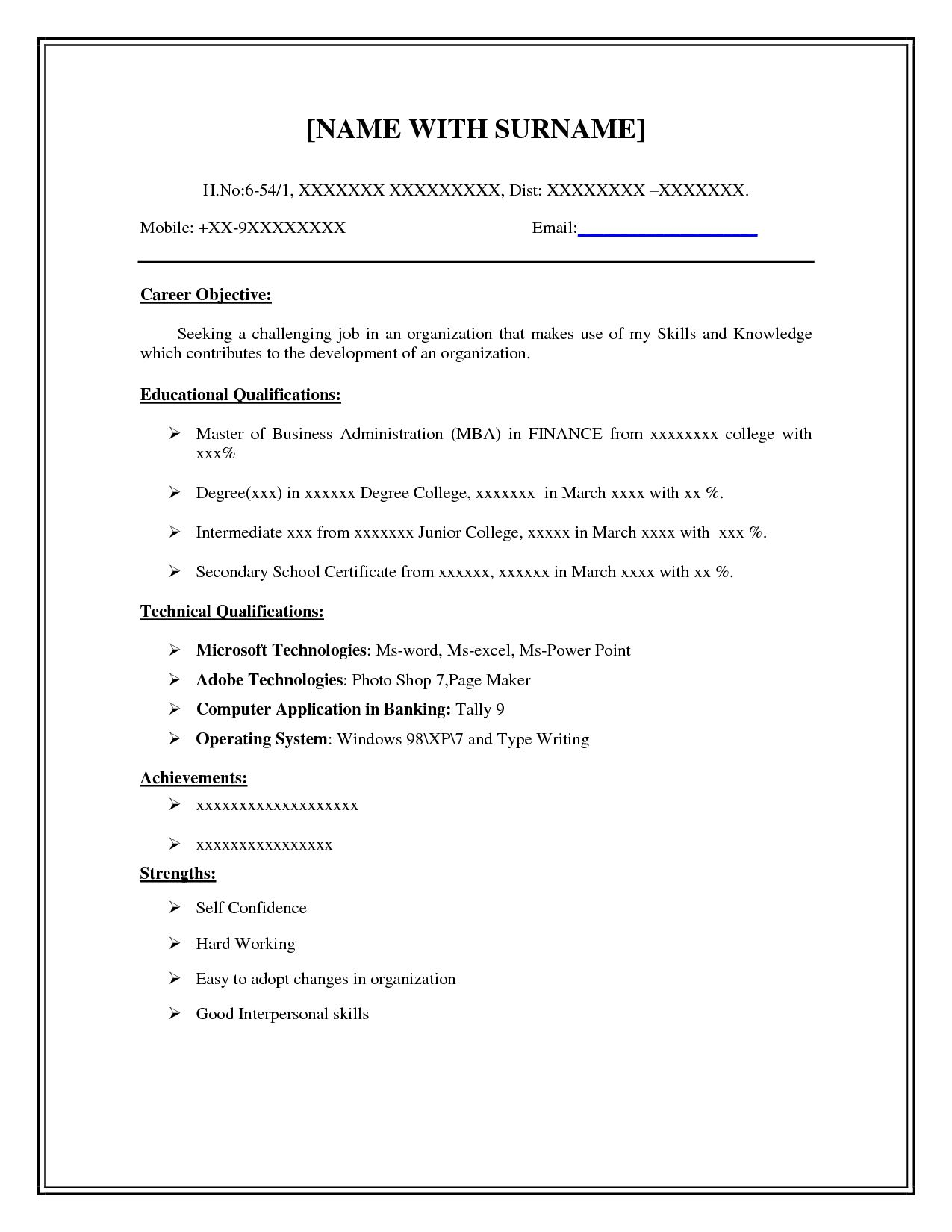 easy and free resume templates basic simple template step by format college student Resume Step By Step Resume Format