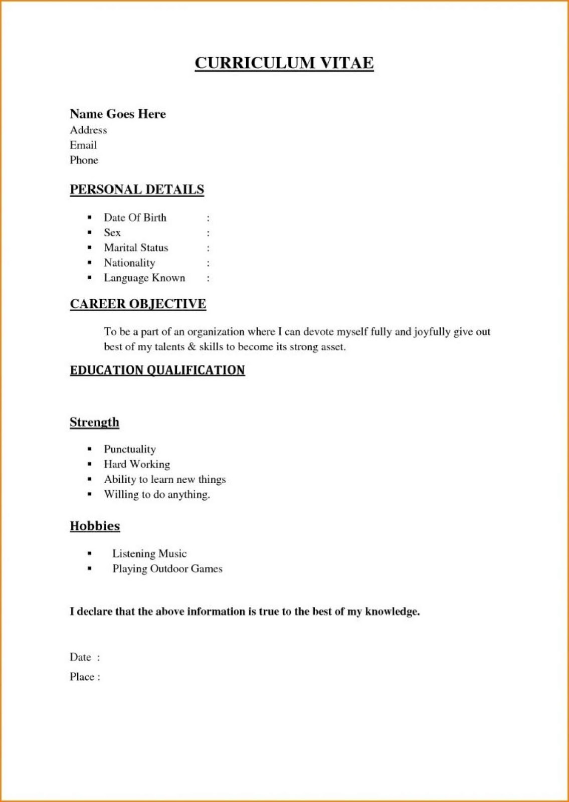 easy free resume template cv templates genius quick and payroll specialist cover letter Resume Quick And Easy Resume