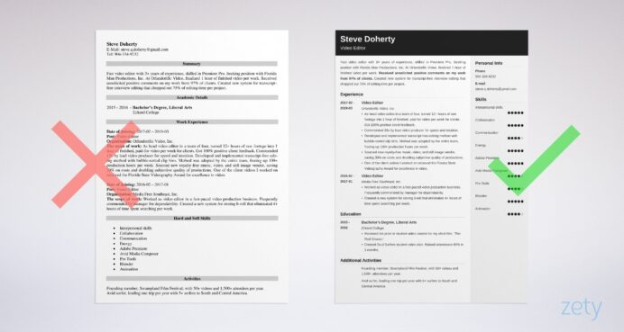 cv template editor resume examples good head waiter application support experience format Resume Video Editor Resume Examples