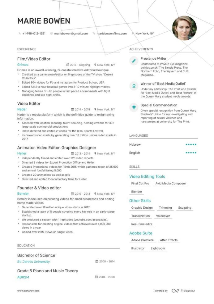 editor resume examples and skills you need to get hired resumes for writers editors Resume Resumes For Writers And Editors