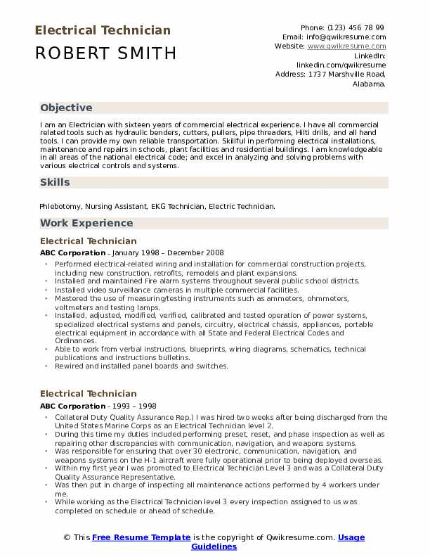 electrical technician resume samples qwikresume skills for electrician pdf tips format Resume Resume Skills For Electrician