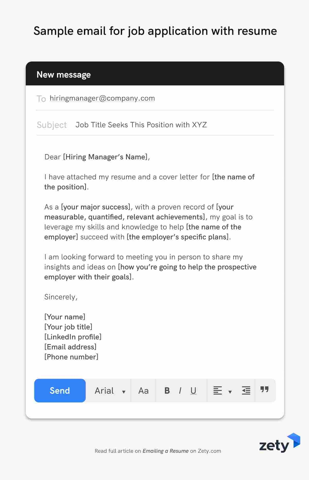 emailing resume job application email samples resumes for employers sample with builder Resume Online Resumes For Employers