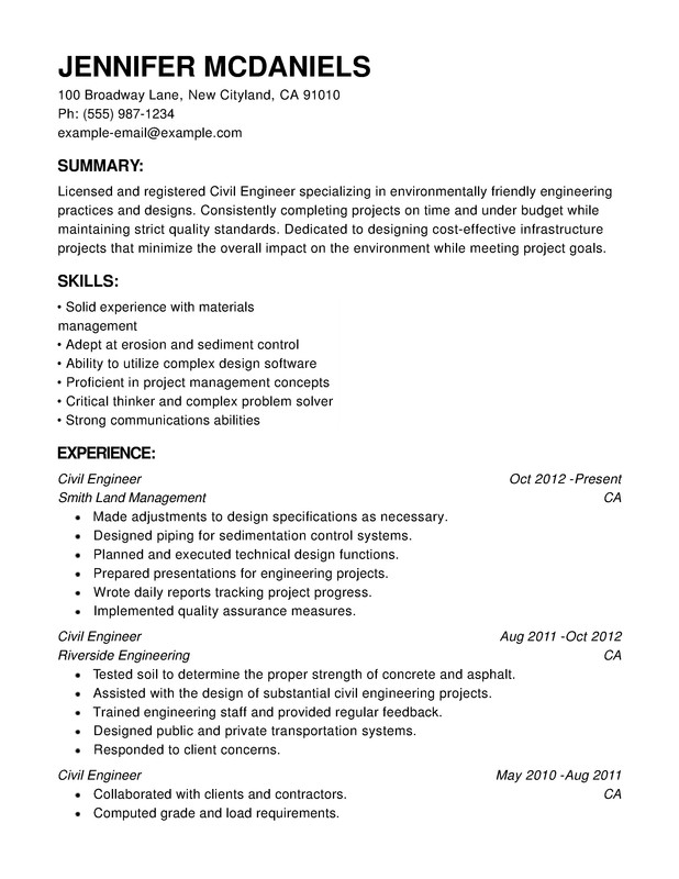 engineering chronological resume samples examples format templates help template medical Resume Chronological Resume Template
