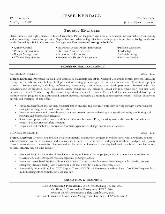 engineering project manager resume awesome free construction engineer example job samples Resume Construction Project Engineer Resume Objective