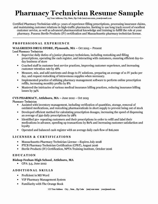 entry level pharmacy technician resume awesome sample tips tech job samples examples Resume Pharmacy Tech Resume Examples