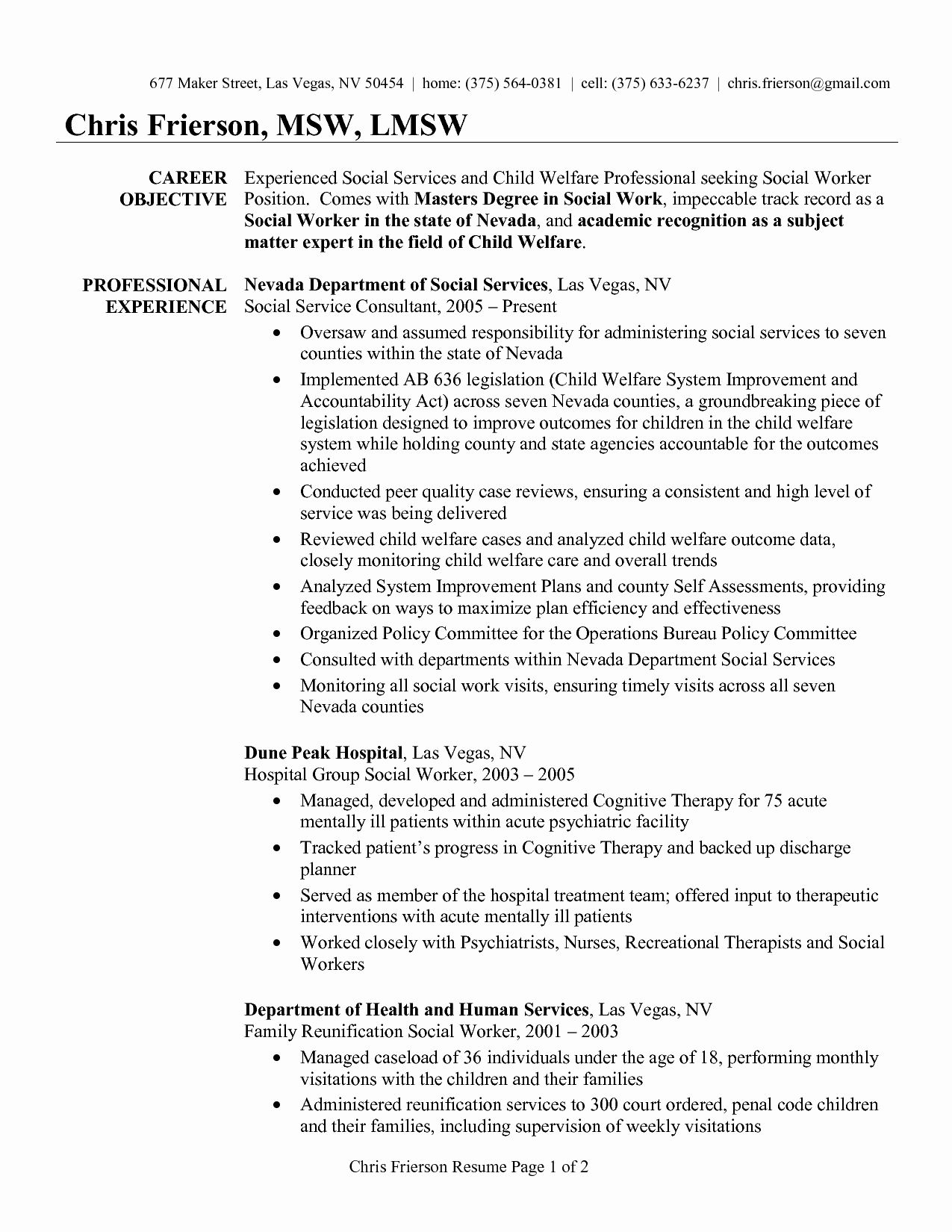 entry level social work resume inspirational examples worker sample objective statement Resume Entry Level Social Work Resume