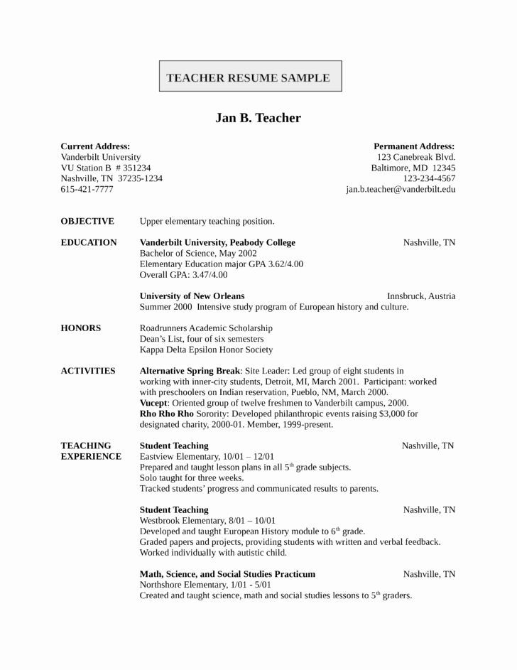 entry level teacher resume free templates of teaching best amp freshers template examples Resume Entry Level Teacher Resume