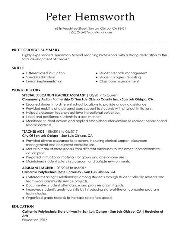 essential student resume examples my perfect professional summary assistant teacher the Resume Professional Summary Resume Student