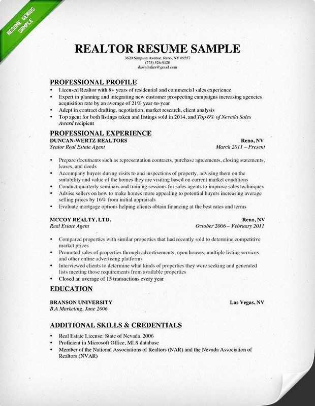 estate agent resume example luxury writing guide guided sample realtor for clients format Resume Realtor Resume For Clients