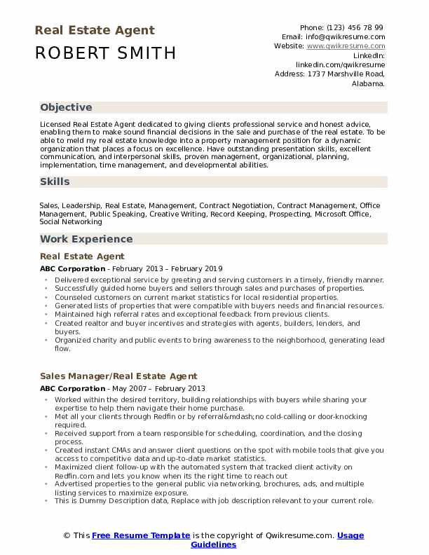 estate agent resume samples qwikresume new pdf technology consultant examples create link Resume New Real Estate Agent Resume