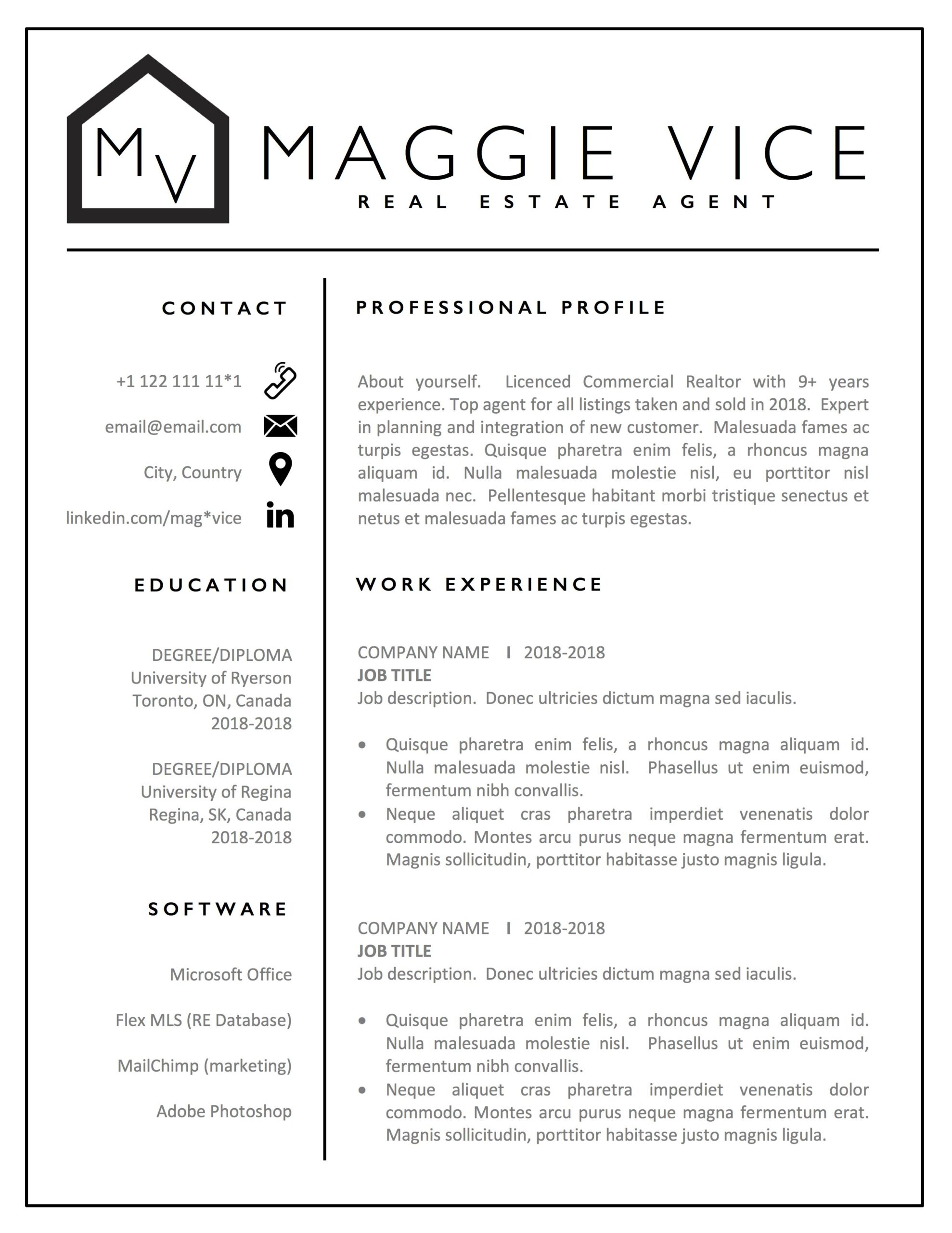 estate agent resume template realtor cv commercial buying for clients kinzaa effective Resume Realtor Resume For Clients