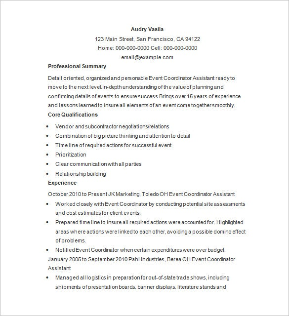 event planner resume templates pdf free premium party sample harpens kraft dental Resume Party Planner Resume Sample