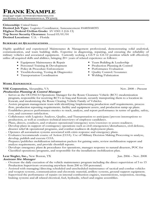 example of federal government resume best format job cover letter for writing positions Resume Resume Writing For Government Positions