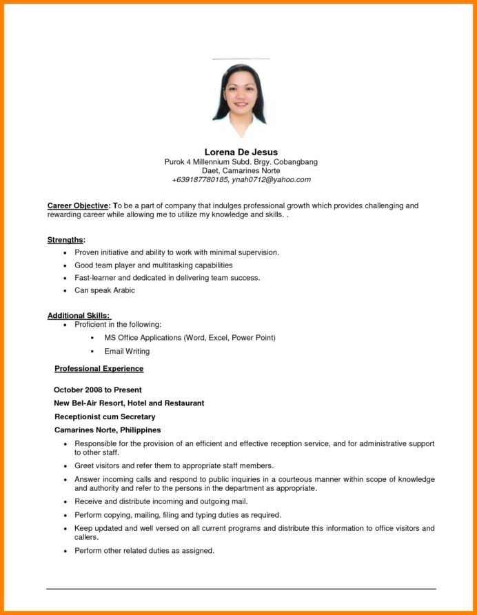 example of resume objective templates examples objectives career for job sample any Resume Resume For Any Job Position