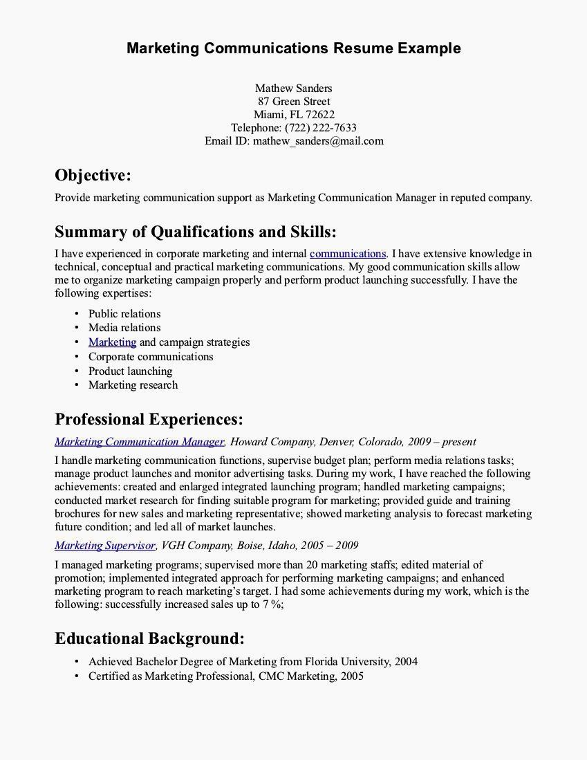examples of communication skills for resume fresh cover letter excellent verbal and Resume Resume Communication Skills Sample