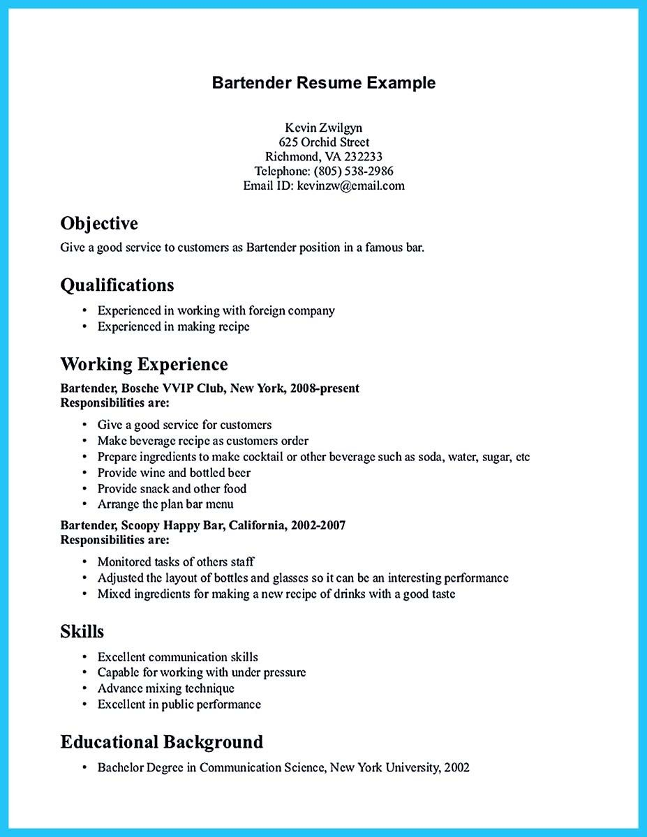 excellent ways to make great bartender resume template write in simple steps examples job Resume Steps To Write A Resume