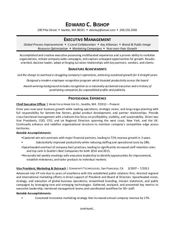 executive manager resume sample monster senior examples outline paper example combination Resume Senior Executive Resume Examples