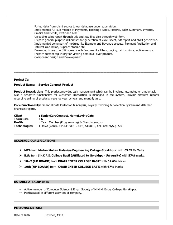 experienced developer resume sample years experience for devloper bio on follow up email Resume Java Developer Resume 8 Years Experience